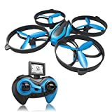 RCtown ELF II Mini Drone for Kids Altitude Hold Height Headless Mode 3D 360° Flips & Rolls RC Quadcopter One-Key Return Helicopter Steady Super Easy Fly for Beginners (Blue)