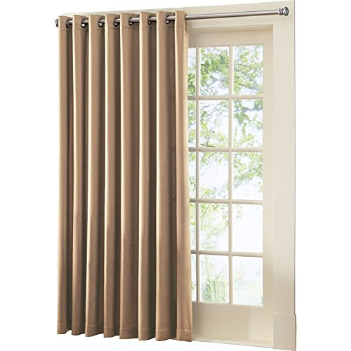 Multipurpose Gramercy Patio Door Curtain Panel With Wand, Single Pannel, Taupe (Window Pannels)