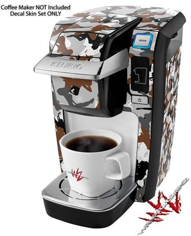 Sexy Girl Silhouette Camo Brown - Decal Style Vinyl Skin fits Keurig K10 / K15 Mini Plus Coffee Makers (KEURIG NOT INCLUDED)