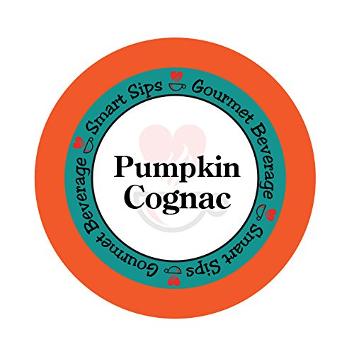 Smart Sips, Pumpkin Cognac Gourmet Flavored Coffee, 24 Count, Single Serve Cups Compatible With All Keurig K-cup Brewers