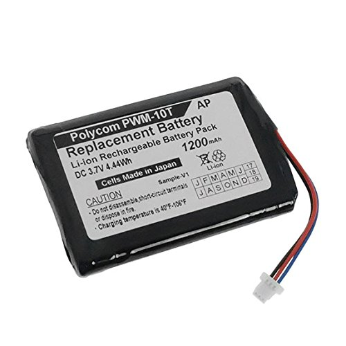 Artisan Power Replacement Battery for Polycom Wireless Soundstation PWM-10T. 1200 mAh