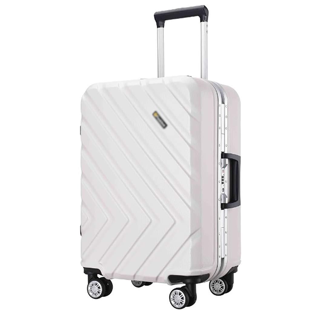 軽量チェックイン荷物大型スーツケース| 73 cm、4ホイール、TSAロック付きABS +ポリカーボネートシェル、ラップトップローラーケース、トラベルバッグ(ホワイト、4.37KG、83L) B07PNNGHRV White 49x27x73cm