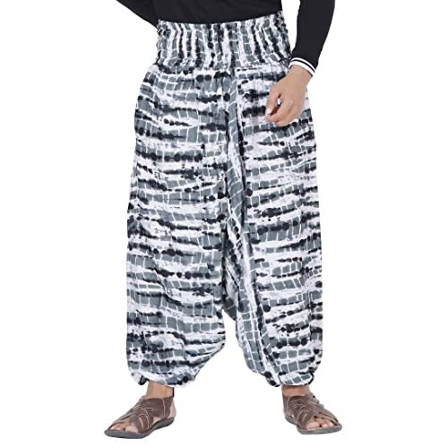 Tye Dye Design THS Harem Pants for Mens and Womens in Soft Rayon Cloth
