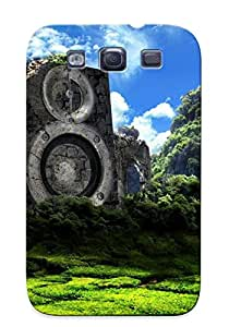 For Galaxy S3 Protector Case I Love House Music Phone Cover