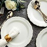 Wedding Dinnerware, Cream Plastic Plates for