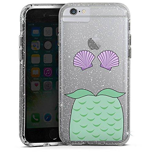 Apple iPhone 6 Bumper Hülle Bumper Case Glitzer Hülle Meerjungfrau Mermaid ohne Hintergrund