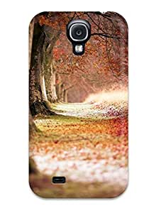 Cute Appearance Cover/tpu VyHxMtT8263urpys Beech Autumn Trees Case For Galaxy S4