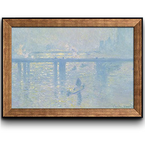 Charing Cross Bridge by Claude Monet Framed Art