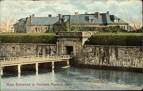 Fortress Monroe - Main Entrance Hampton, Virginia Original Vintage Postcard