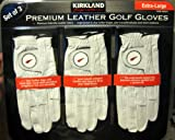 Kirkland Signature Premium Cabretta Leather Golf Gloves, Extra-large, 3-Pack