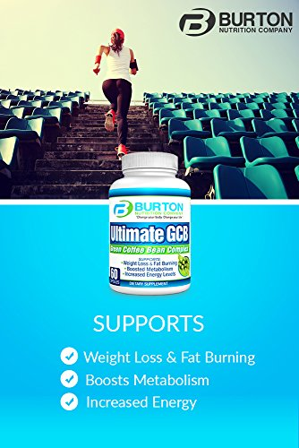 Ulimate GCB 60 count Green Coffee Bean Extract By Burton Nutrition - Chlorogenic Acid - Weight Loss - Appetite Control - Energy Support - Metabolism Boost by BURTON NUTRITION (Image #1)