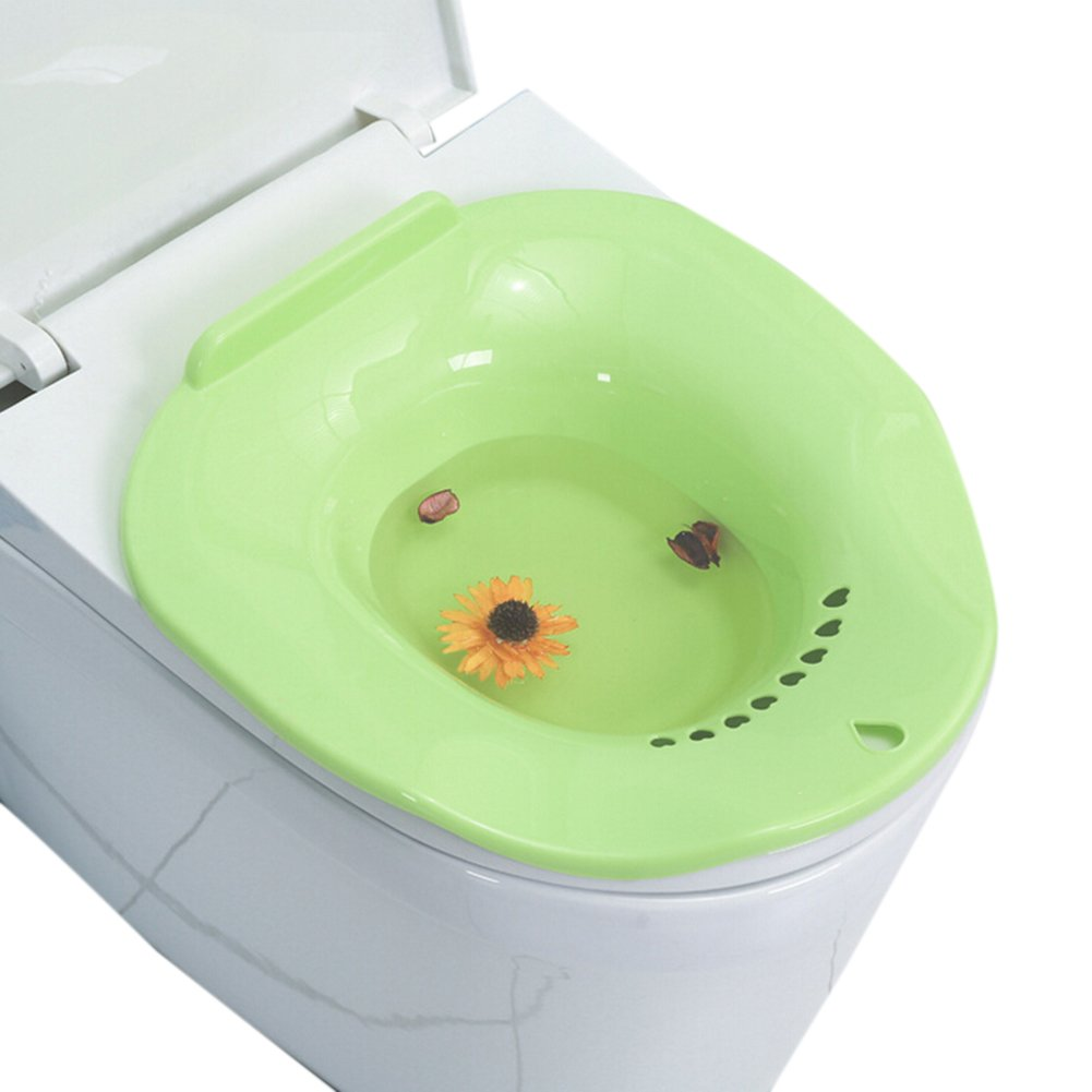 Sitz Bath Toilet Bidet Tub Over The Toilet Perineal Soaking Bath Colorfulworld for Hemorrhoidal Relief and Pregnant Women Health Care (Green) by Colorfulworld