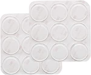 GINOYA 18pcs Glass Top Bumpers, Silicone Adhesive Furniture Bumpers for Glass Table Door Cabinet Drawers