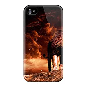 New Fashion Premium Cases Covers For Iphone 6plus - Lion In Space