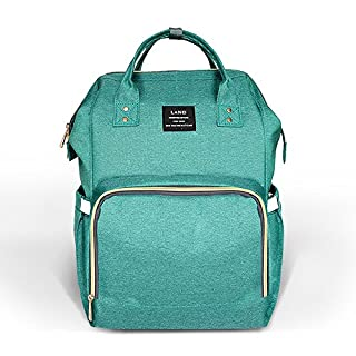 Diaper Bag Backpack,Gufeng Large Capacity Waterproof Travel Backpack Nappy Bags for Baby Care, Fashionable & Durable(Green)