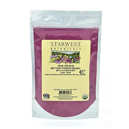 Starwest Botanicals Organic Beet Root Powder, 4 Ounces