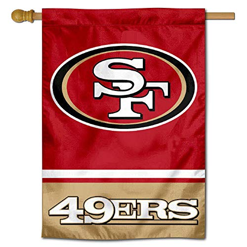 WinCraft San Francisco 49ers Two Sided House - 2 Inch Side Banner 40