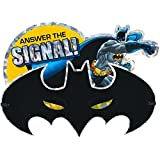 batman jumbo deluxe party invitation cards 8 x 6 pack of 8 - Batman Party Invitations