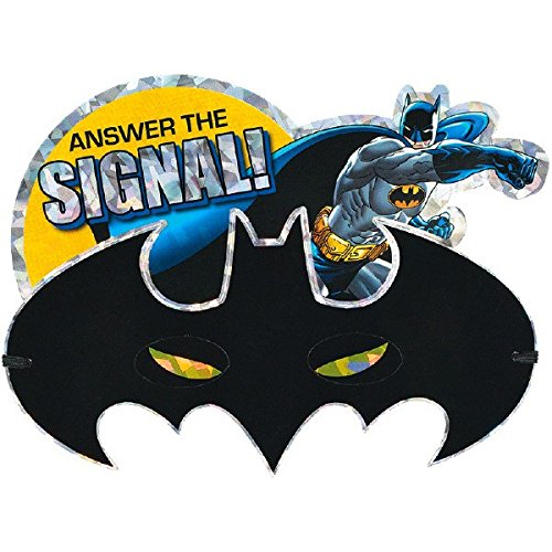 amscan Batman Party Mask Invitations | Pack of 8 | Party Supply