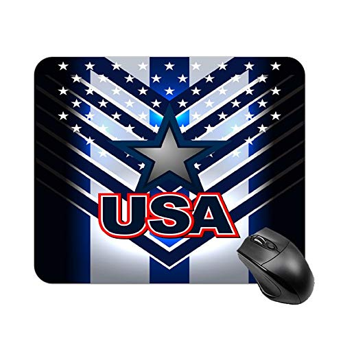 Uclipers Gaming Mouse Pad, USA Nation Flag Backgrounds