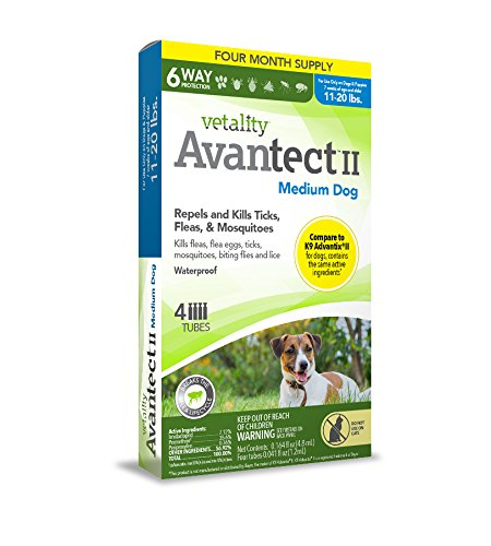 Avantect II Spot-On for Dogs 11-20 lbs. 4 dose