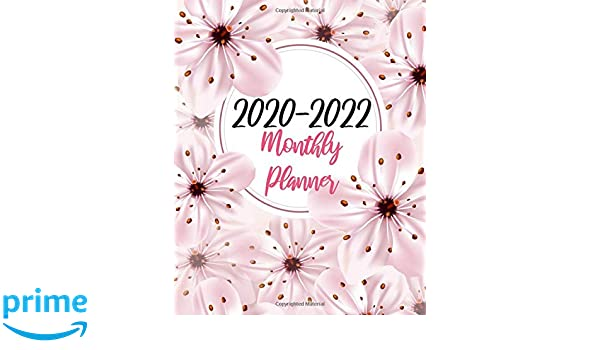 2020-2022 Monthly Planner: Pink Flowers, Three Year 36 ...