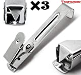 3 Pcs Dental Medical X-Ray film hanger Clip 2.2'' Stainless Steel Superior Instruments