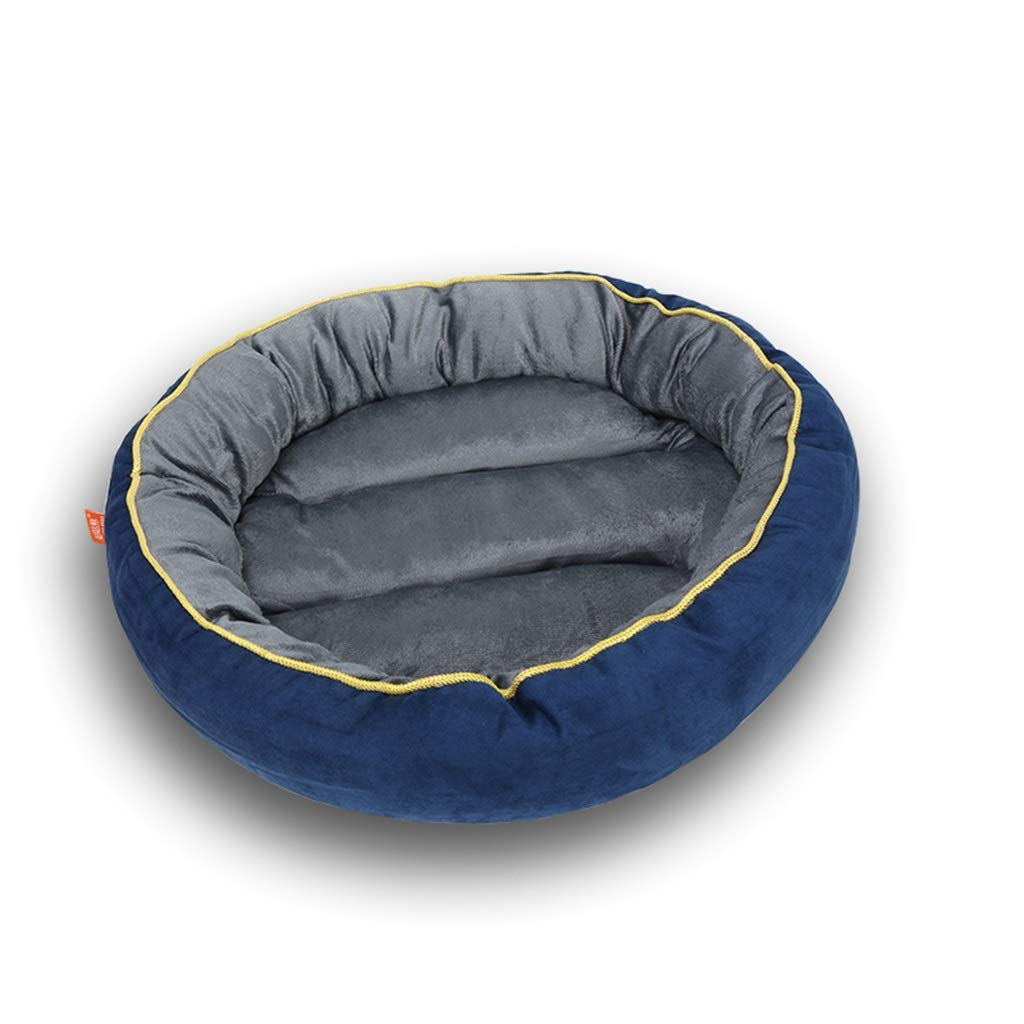 L Hxyan Dog Bed Removable and Washable Small Medium Large Cat Bed Pet Bed Short Plush bluee Four Seasons Universal (Size   L)