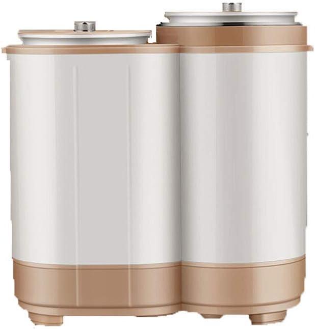 FDY Lavadora Portátil Doble Cubo Mini - (Lavado 3 kg + 1,8 kg De Deshidratación)-Potencia Lavado 150W, Apto para Apartamentos, Cámping, Dormitorio