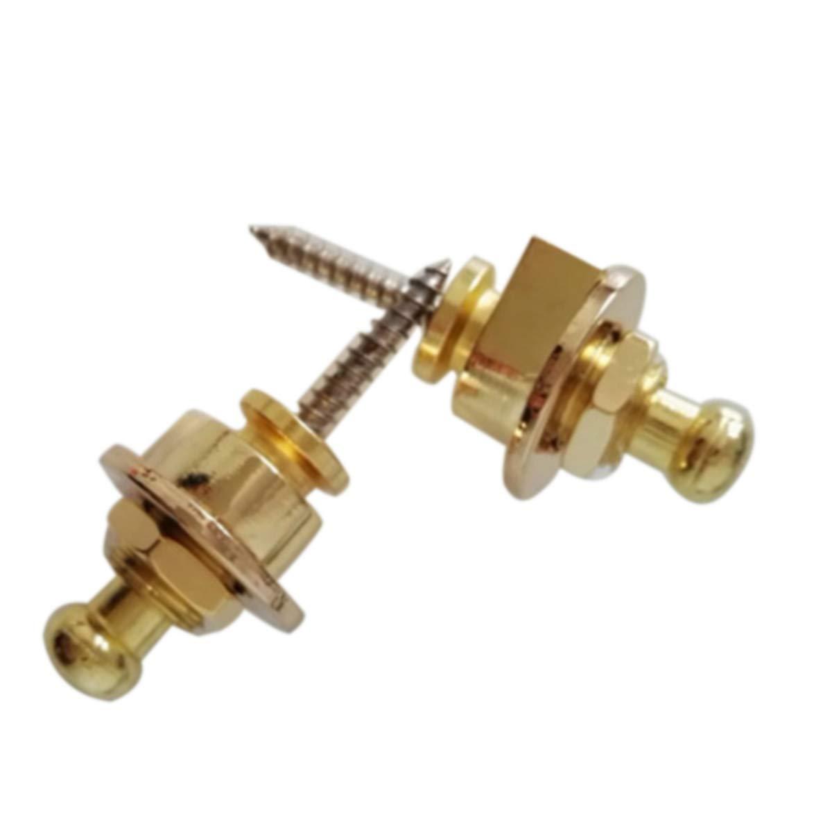 de oro SUPVOX Los botones de la correa de la guitarra de la aleaci/ón del cinc de la cabeza de las setas 2pcs bloquean las correas S
