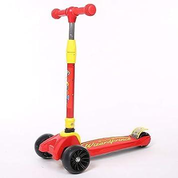 YK GAME Patinete de 3 Ruedas con Diseño Scooter para Niños ...