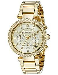 Michael Kors Parker MK5354 Women's Wrist Watches, Gold Dial