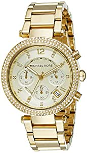 michael kors women 39 s parker gold tone watch. Black Bedroom Furniture Sets. Home Design Ideas