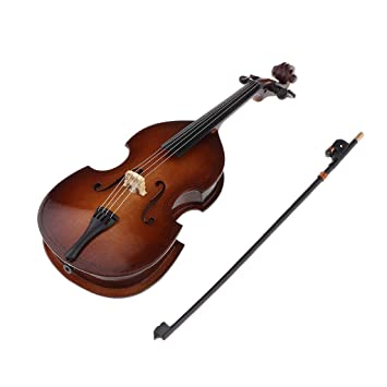 1//6 Scale Action Figures Dollhouse Wooden Violin Musical Model w// Stand Box