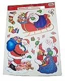 Christmas Glitter Reusable Window Clings ~ Santa on the Night Before Christmas (23 Clings, 1 Sheet)