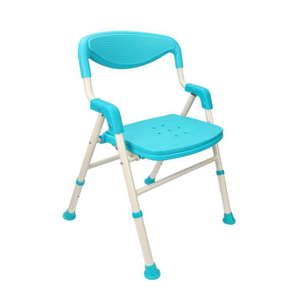 YN シャワー/バスタブスツールシャワーシート高齢者/障害者用マットシャワーチェア調節可能3背もたれとバスタブシート付き席ヘビーブルー B07PZDGCNK