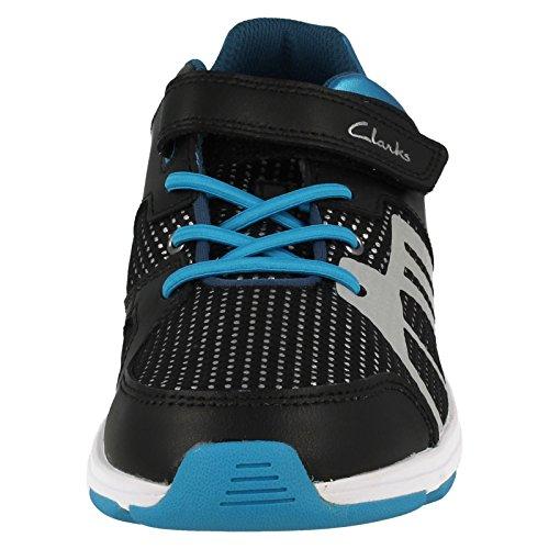 Clarks Boys Sport out-of-sc reflectspy Jnr, in pelle in Blu COMBI