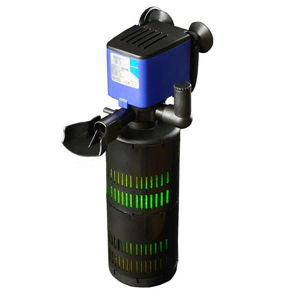 D@Qyn Acuario Filtro De Peces Tanque Silencioso Bomba De Oxígeno con Lámpara UV Filtro Incorporado Tres En Uno,F602+UV: Amazon.es: Hogar