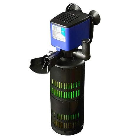 D@Qyn Acuario Filtro De Peces Tanque Silencioso Bomba De Oxígeno con Lámpara UV Filtro