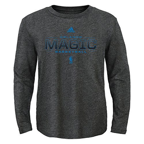 fan products of NBA Athletic Standard Long Sleeve Tee-Charcoal-M(10-12), Orlando Magic