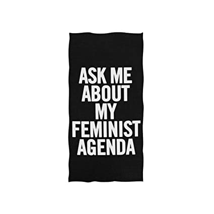 Amazon.com: DKRetro Hand Towel with Feminist Agenda Print ...