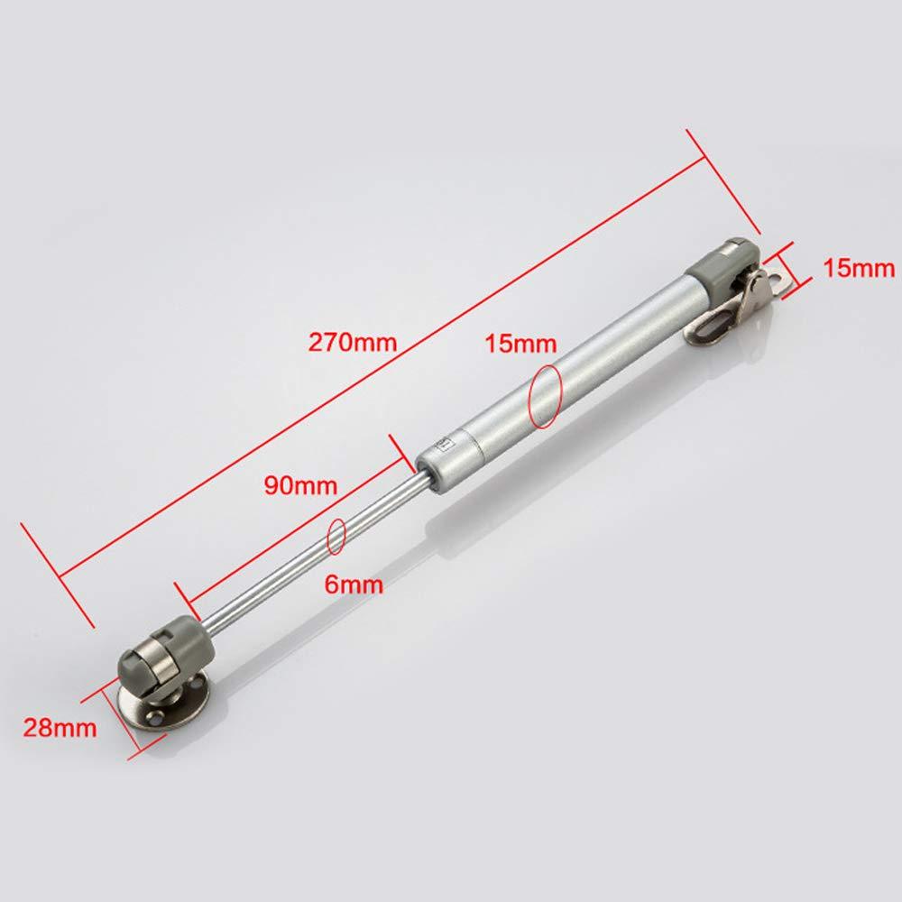 4pcs Pistones a Gas Muebles Cocina Amortiguador Puertas Elevables 100N 10kg 270mm Bisagras Resortes Armario con Tornillos