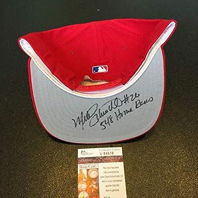 Mike Schmidt #26 548 Home Runs Signed Philadelphia Phillies Hat Cap JSA COA