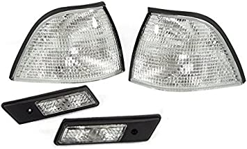 Pair EURO CORNER LIGHTS CLEAR for 92-98 BMW E36 3-SERIES 4DR COUPE//CONVERTIBLE