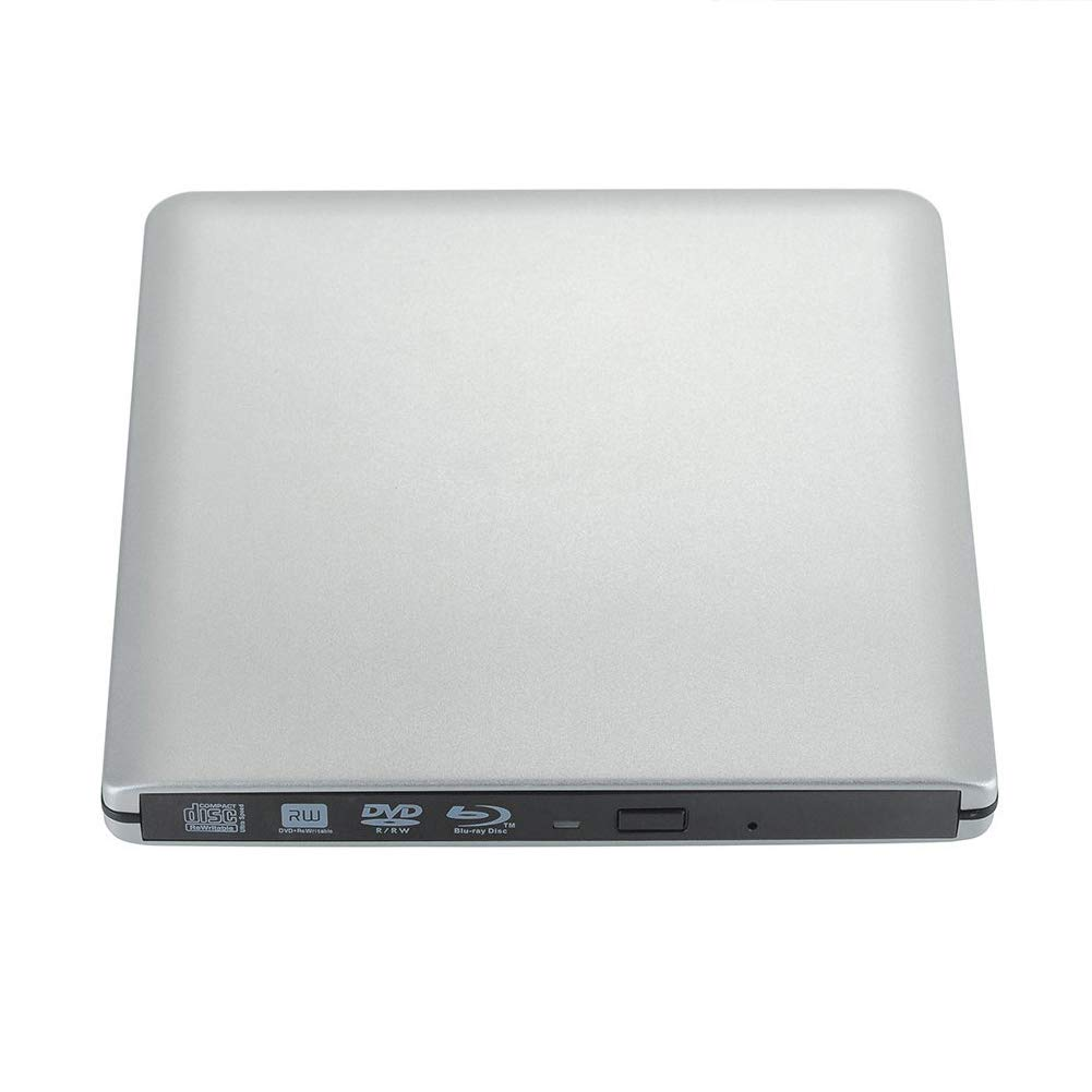 External CD Drive, USB 3.0 Portable CD DVD +/-RW Drive Slim DVD/CD ROM Rewrite Burner with High Speed Data Transfer