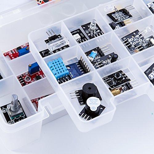 ELEGOO Upgraded 37 in 1 Sensor Modules Kit with Tutorial for Arduino UNO R3 MEGA 2560 Nano 2016 new version by ELEGOO (Image #5)