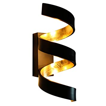Ruban Simili Ner Europe Led Ap3 Applique Noire Helix Fan Or bfY76gvymI