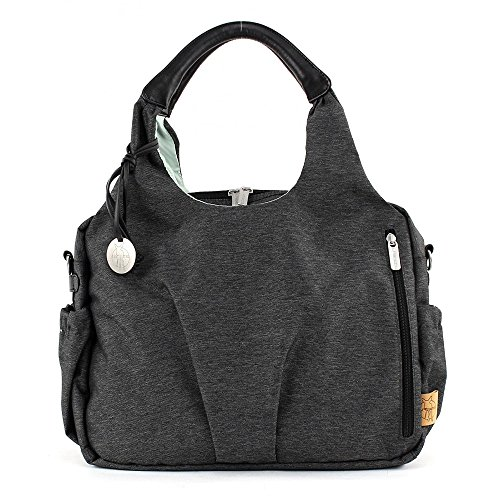 Lässig Green Label Neckline Bag Ecoya Wickeltasche/Babytasche inkl. Wickelzubehör aus recyceltem Material, anthracite