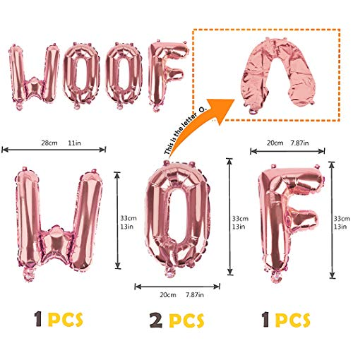 B bangcool Dog Birthday Party Supplies Pet Birthday Party Decorations WOOF Letter Balloons Paw Print Balloons for Pet Cat Dog Birthday