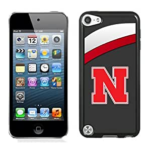 Fashionable And Unique Designed With Ncaa Big Ten Conference Football Nebraska Cornhuskers 8 Protective Cell Phone Hardshell Cover Case For iPod 5 Phone Case Black